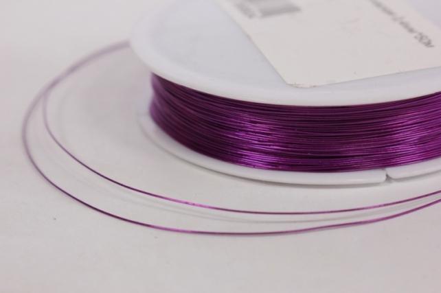 Проволока флористическая 0,4мм*50м Фиолетовая