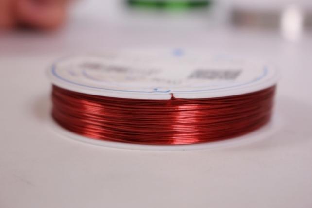 Проволока флористическая 0,4мм*50м Красная