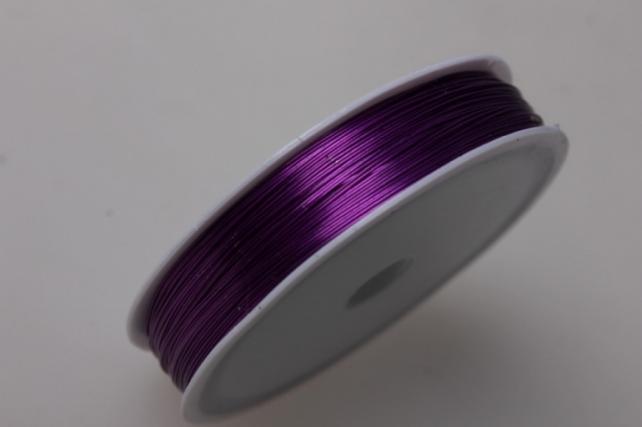 Проволока флористическая 0,4мм х 25м фиолетовый