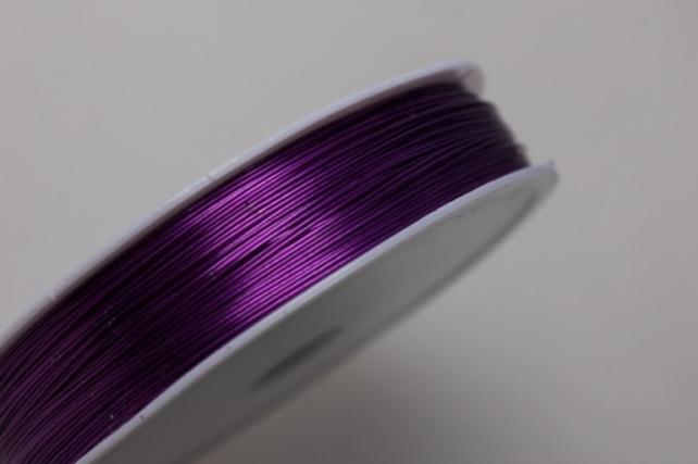 проволока флористическая 0,4мм х 50м фиолетовый