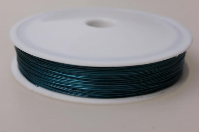 Проволока флористическая 0,4мм х 25м голубой