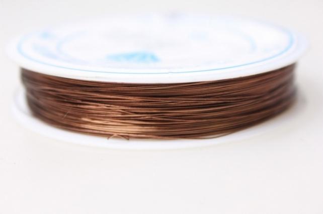 Проволока флористическая 0,4мм х 25м коричневый