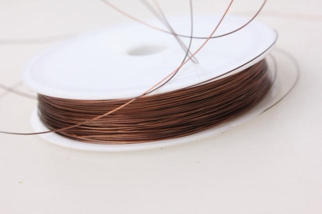 проволока флористическая 0,4мм х 50м коричневый