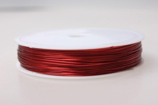 Проволока флористическая 0,4мм х 25м красный