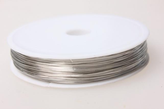 Проволока флористическая 0,4мм х 25м серебро