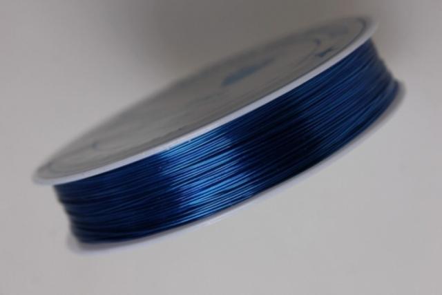 Проволока флористическая 0,4мм х 25м синий