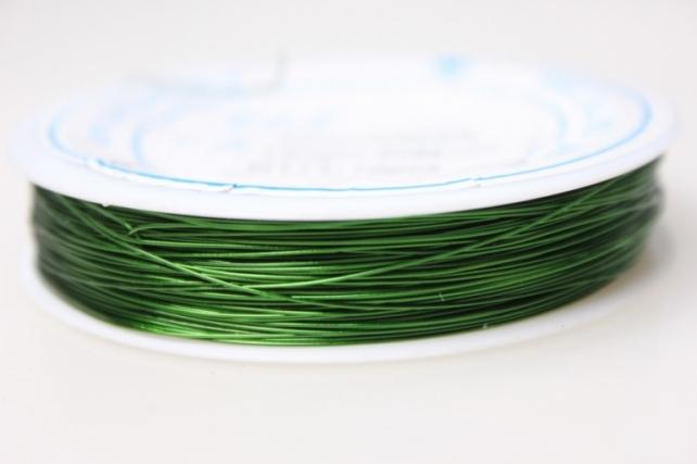 Проволока флористическая 0,4мм х 25м зелёный