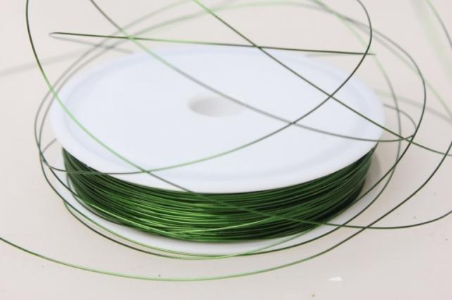 проволока флористическая 0,4мм х 50м зелёный