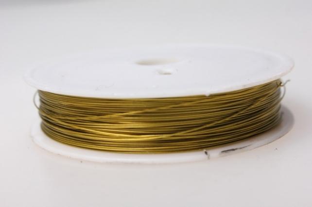 Проволока флористическая 0,4мм х 25м золото