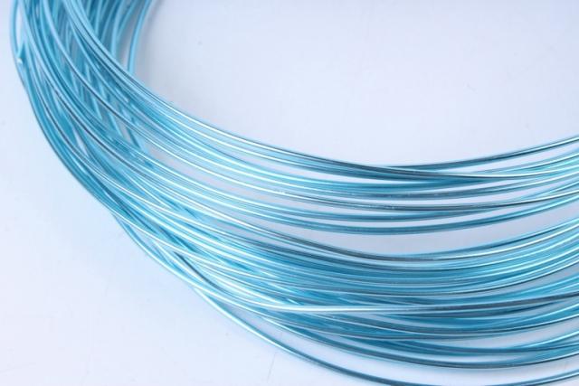 проволока флористическая 0,8 мм*10м голубой