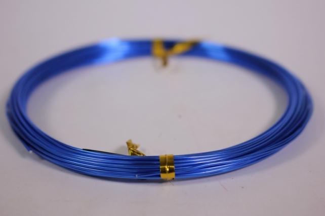 Проволока флористическая 0,8 мм*10м синий