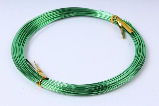 Проволока флористическая 0,8 мм*10м Травяной