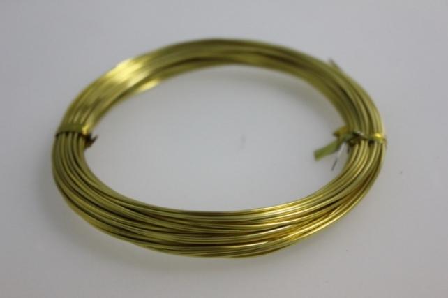 Проволока флористическая 0,8 мм золото