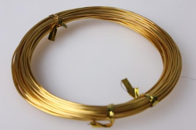 Проволока флористическая 0,8мм - Золотая