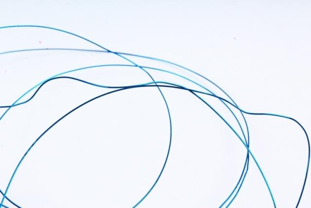 Проволока флористическая 0,4мм*50м Голубая