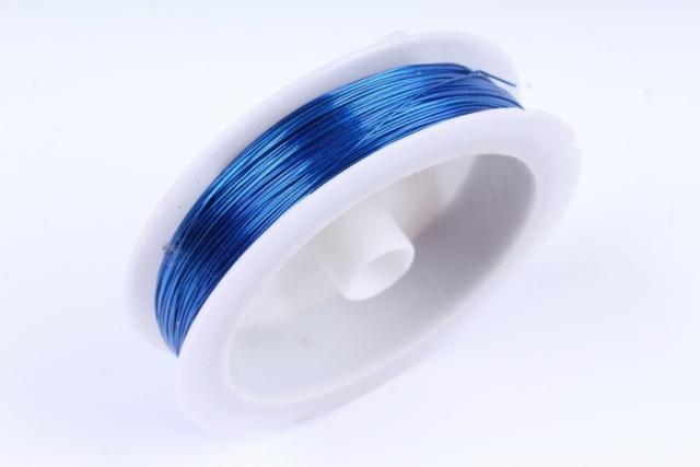 Проволока флористическая 0,4мм*50м Синий