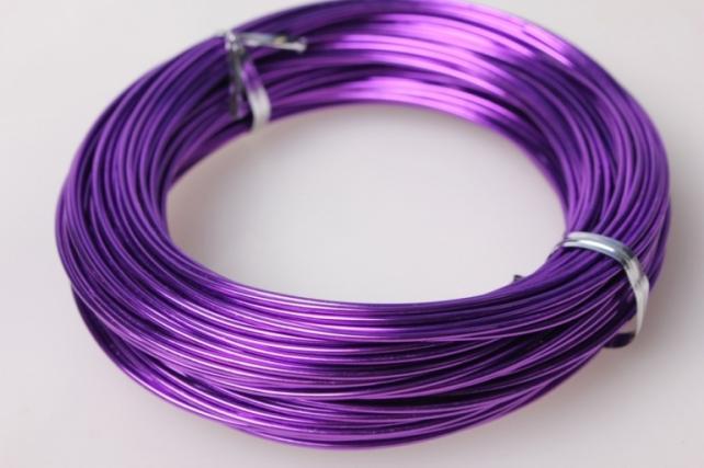 Проволока каркасная 1мм х 24м Фиолетовая