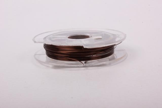 Проволока Коричневая флористическая  (п-10-008) - 0,3 мм.
