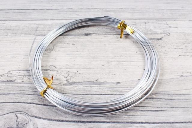 Проволока 1,5мм*5м Серебро флористическая