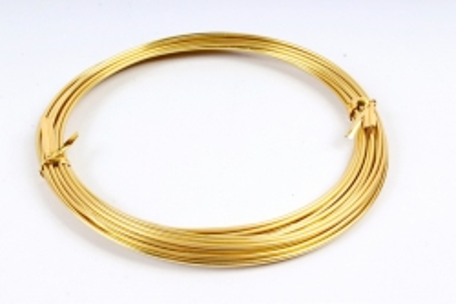 Проволока 1,5мм*5м Золото флористическая