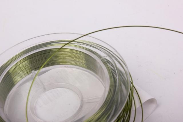 проволока оливковая флористическая  (п-10-005) - 0,3 мм.