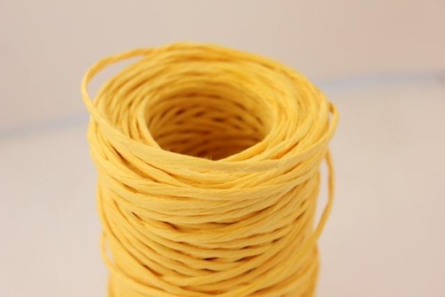 Проволока с бумажным покрытием 50м - Жёлтая