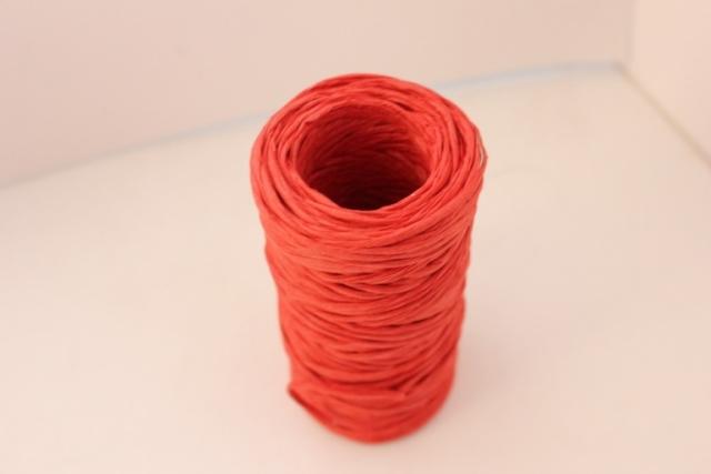 Проволока с бумажным покрытием 50м - Красная