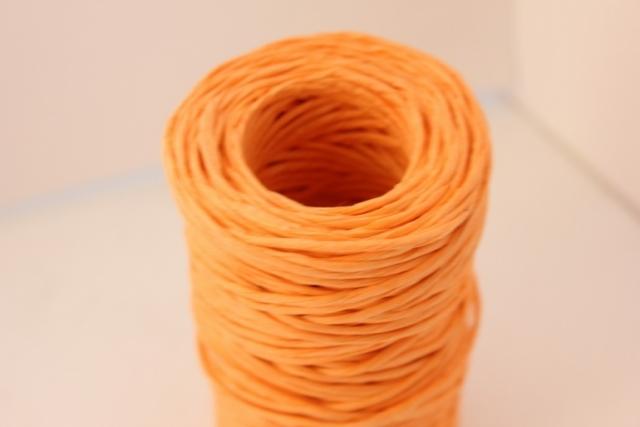 Проволока с бумажным покрытием 50м - Оранжевая