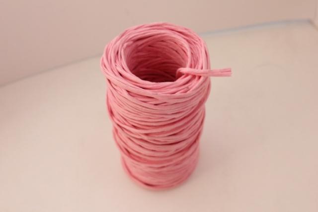 Проволока с бумажным покрытием 50м - Розовая