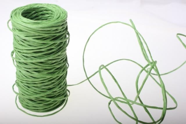 Проволока с бумажным покрытием 50м - Зелёный