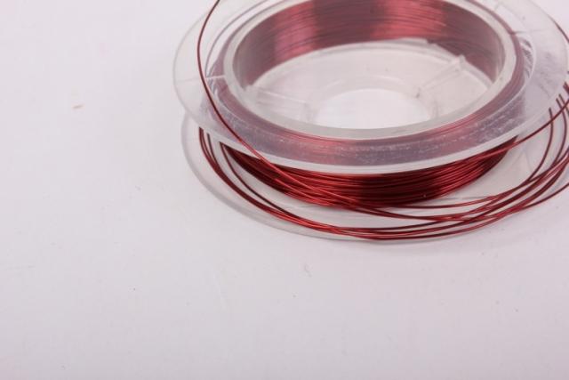 проволока темно-красная флористическая  (п-10-018) - 0,3 мм.