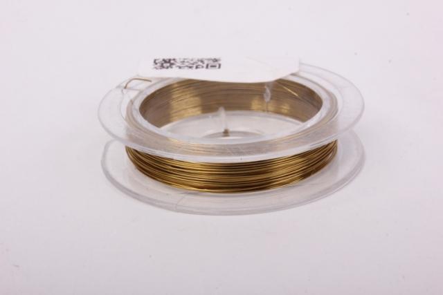 Проволока  Темно-золотая флористическая  (п-10-013) - 0,3 мм.