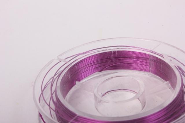 проволока ярко-розовая флористическая  (п-10-012) - 0,3 мм.