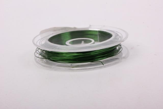 Проволока Зеленая флористическая  (п-10-002) - 0,3 мм.