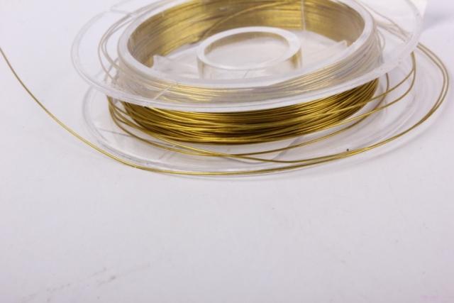проволока золото флористическая  (п-10-011) - 0,3 мм.