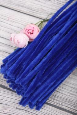 Прутик-скрутик пушистый 31см по 100 штук синий  WYCIORY A014