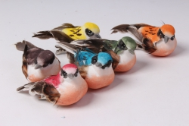 Птичка  6 см на прищепке (12ш в уп) 3340  W12525