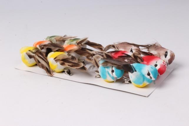 Птичка  8 см на прищепке (12ш в уп) 1089  W16089