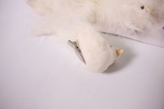 птичка декоративная - голубибелыелёнсбусинойнаприщ.(12штвуп)1867