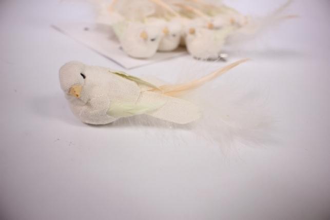 птичка декоративная - голубибелыелёнсбусинойнаприщ.(12штвуп)1750