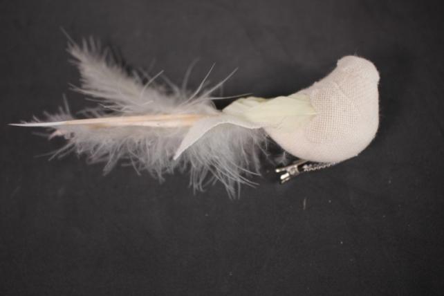Птичка декоративная - Голубибелыелёнсбусинойнаприщ.(12штвуп) L=13см1750