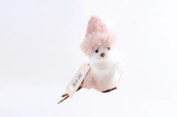Птичка декоративная розовая  NSC24