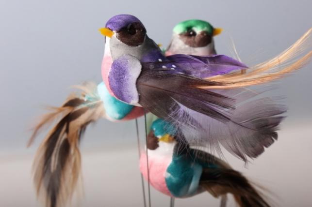 Птичка искусственная (12шт в уп)