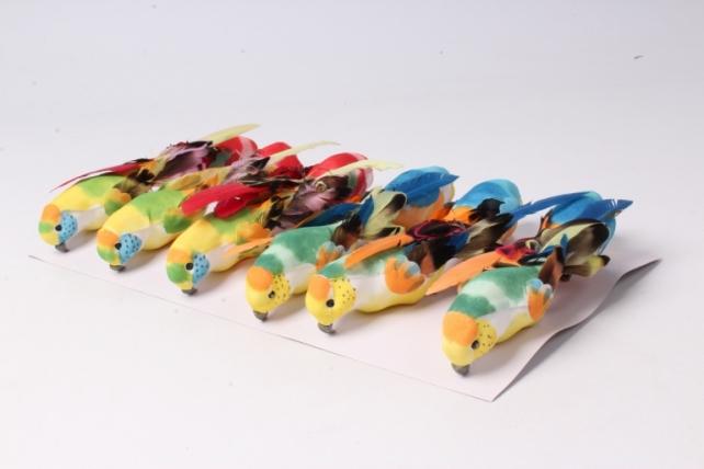 Птичка  Попугай 15 см (12ш в уп) 1119  W12249