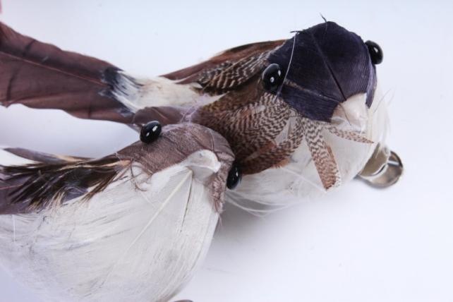 Птичка  в круге 7 см на клипсе (12шт в уп) TFB2017055