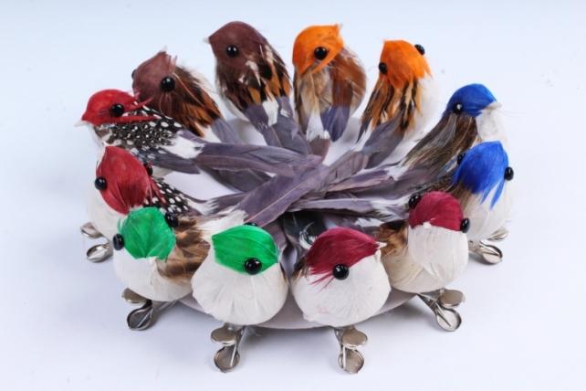Птичка  в круге 7 см на клипсе (12шт в уп) TFB523041