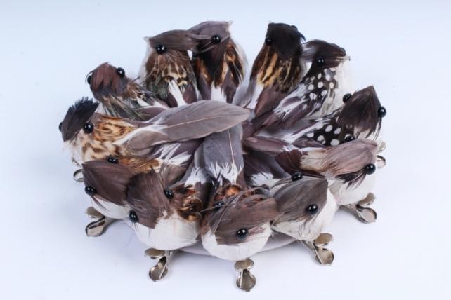 Птичка  в круге 5 см на клипсе (12шт в уп) TFB523037