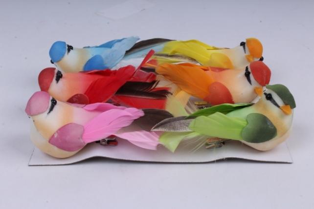 Птички (6 шт в уп) 7 см 283616