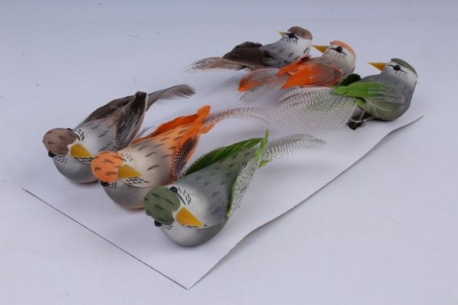 Птички (6 шт в уп) 8 см 283296 10x3 h=3cm