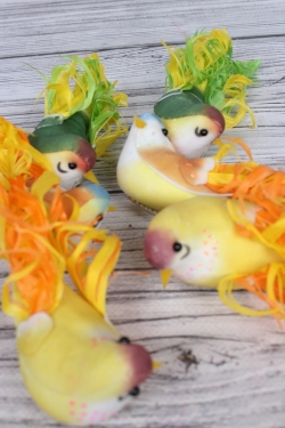 Птички на клипсе С кудрявым хвостом по 6 шт  283186A